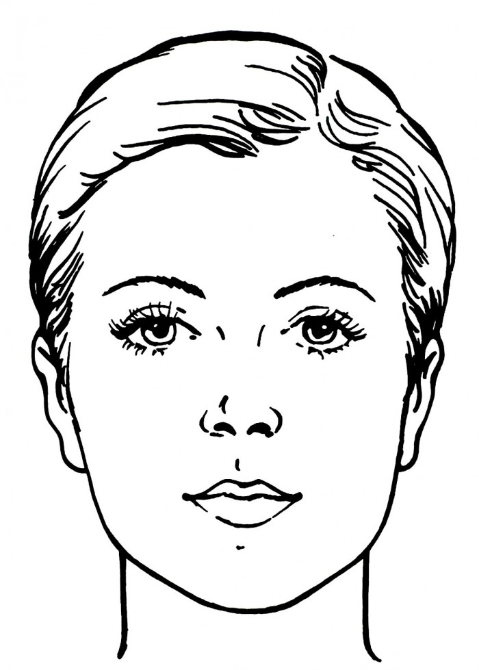 Line Drawing Of Human Face : Dessins de coloriage visage à imprimer sur laguerche