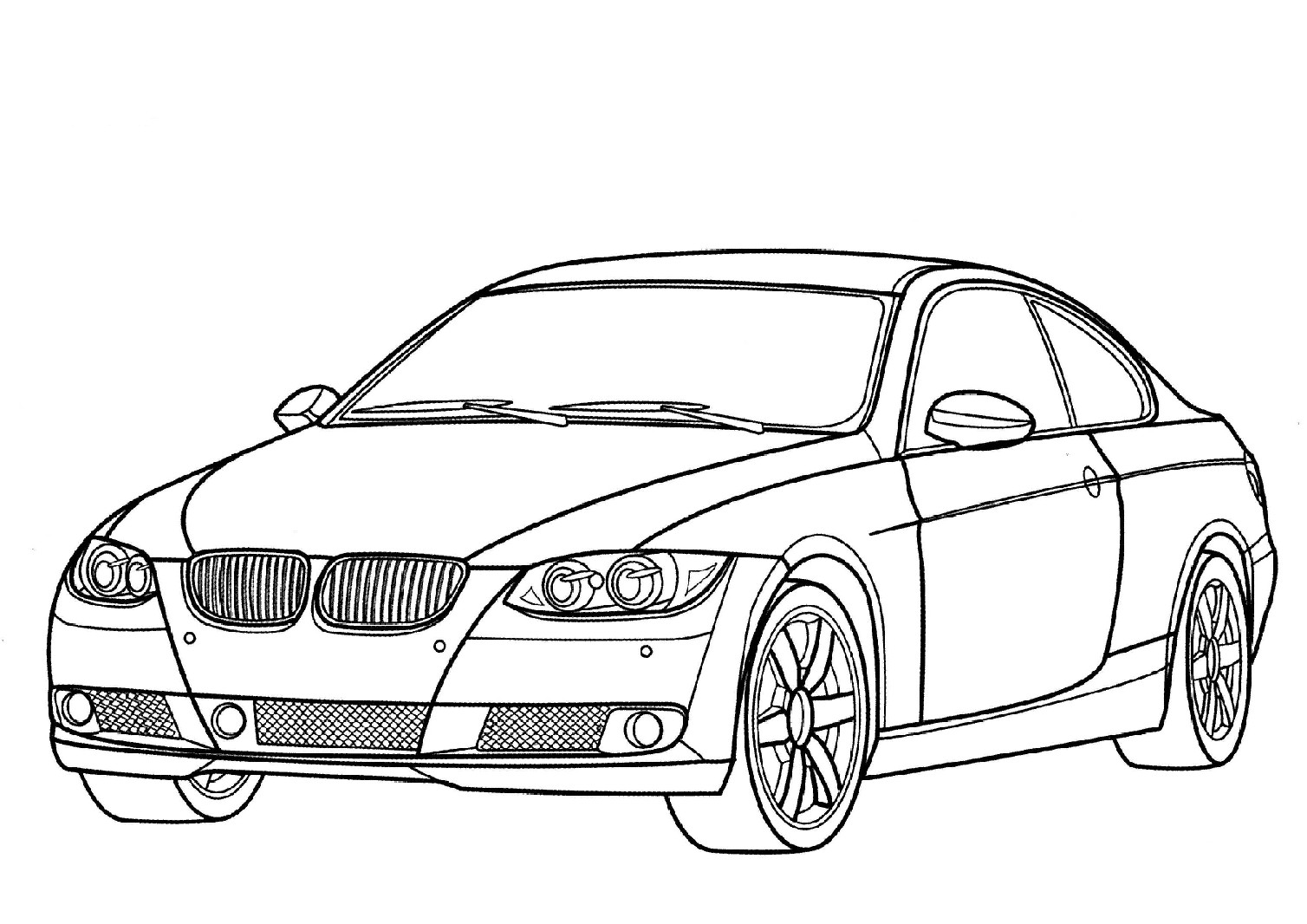 S lection de dessins de coloriage voiture imprimer sur for Plans de dessins de porche