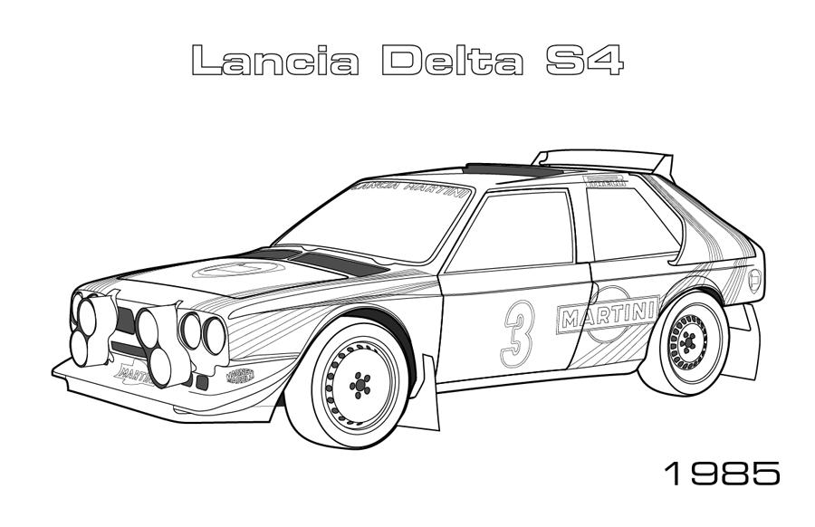 S lection de dessins de coloriage voiture imprimer sur - Coloriage voiture rallye ...