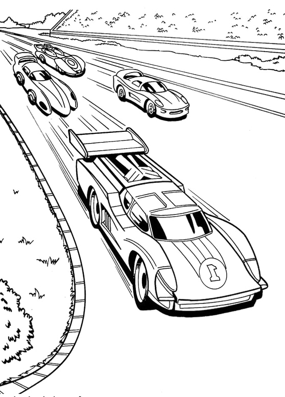 racing track coloring pages - photo#27