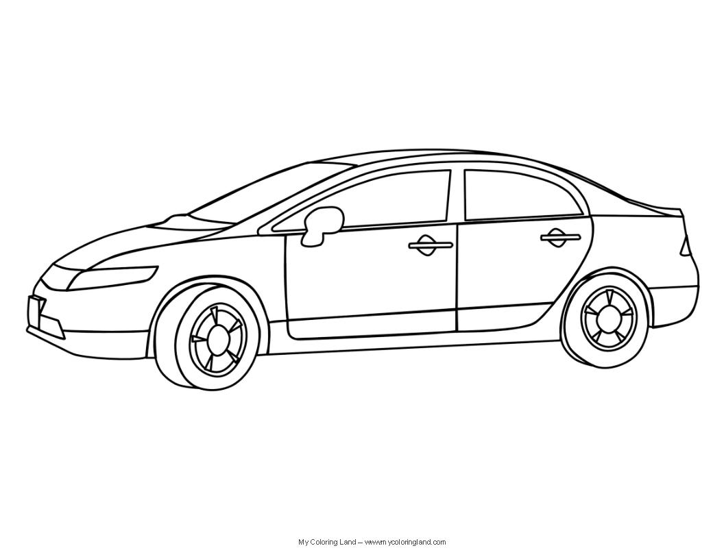 21 dessins de coloriage voiture enfant imprimer sur - Dessins voiture ...