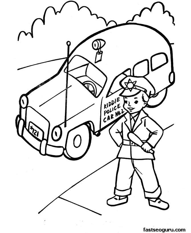 Bien connu 21 dessins de coloriage voiture enfant à imprimer sur LaGuerche  KP47