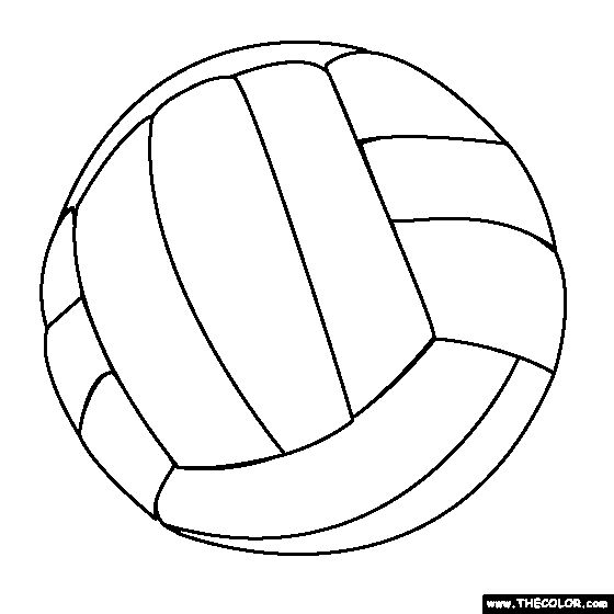 Image #17639 - Coloriage volleyball gratuit