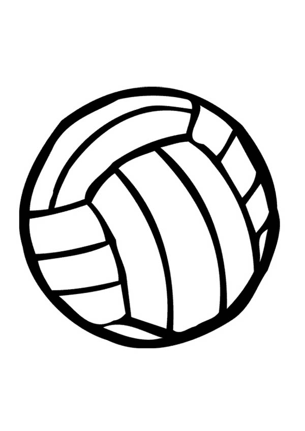 Image #17640 - Coloriage volleyball gratuit
