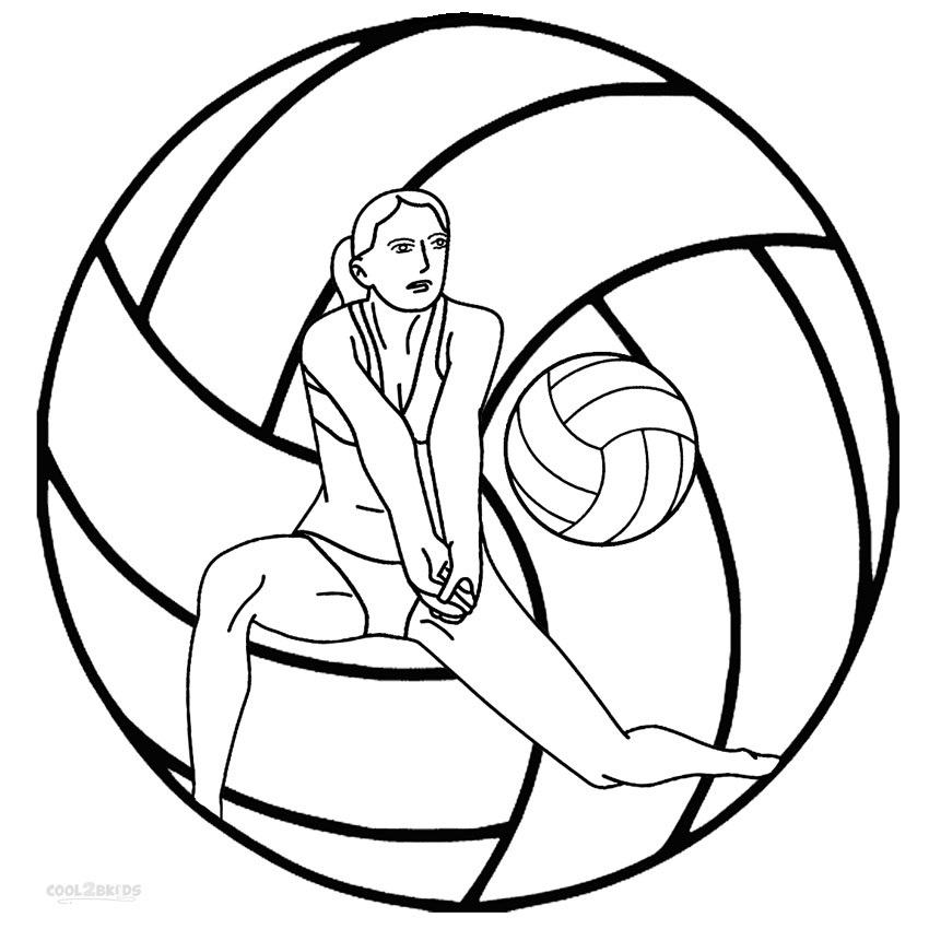 Image #17643 - Coloriage volleyball gratuit