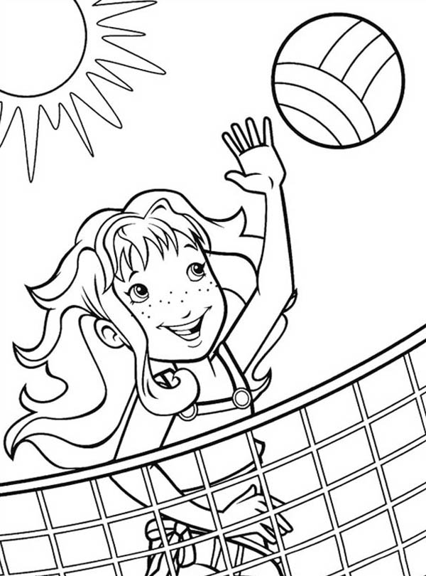 Image #17644 - Coloriage volleyball gratuit