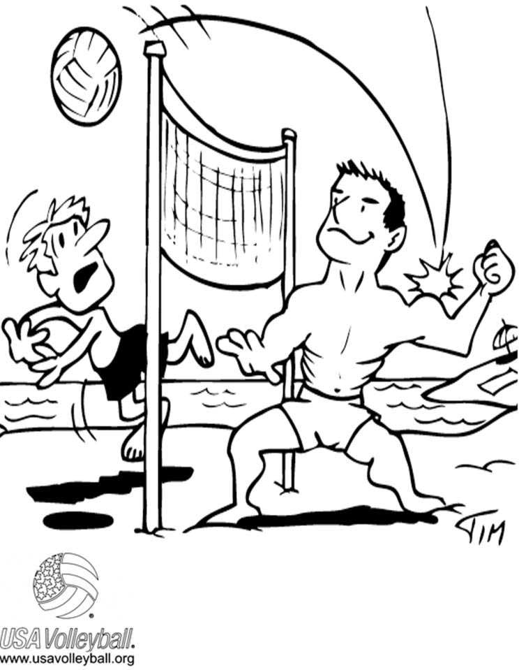 Image #17646 - Coloriage volleyball gratuit