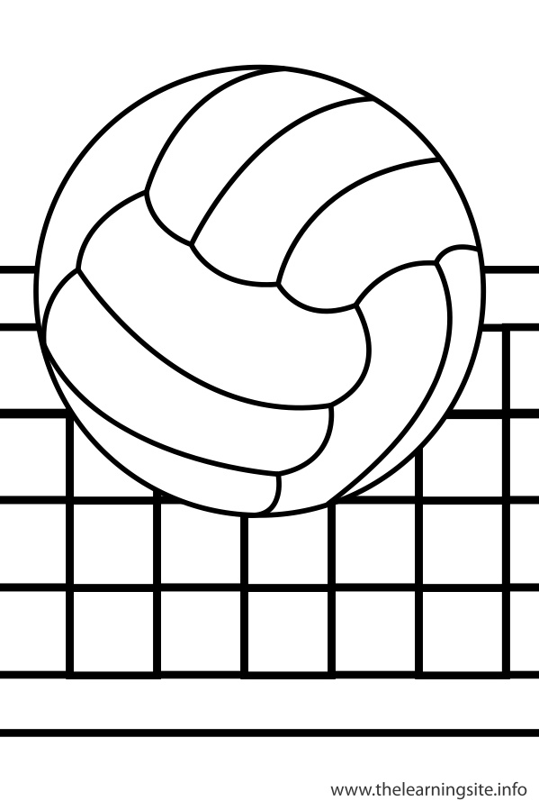 Image #17649 - Coloriage volleyball gratuit