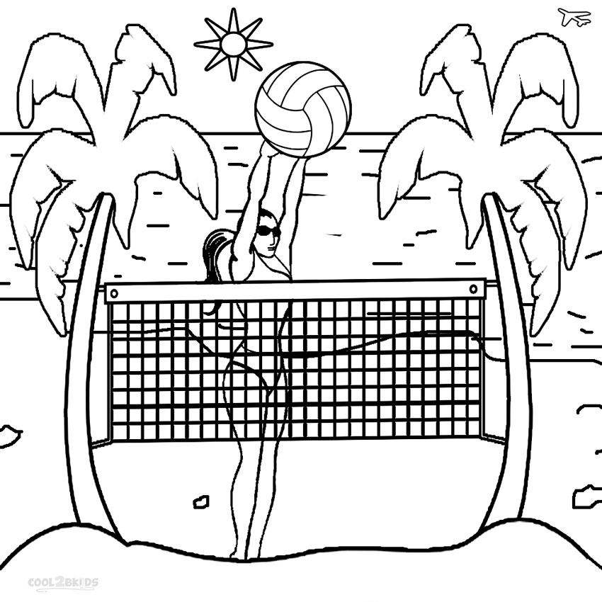 Image #17651 - Coloriage volleyball gratuit