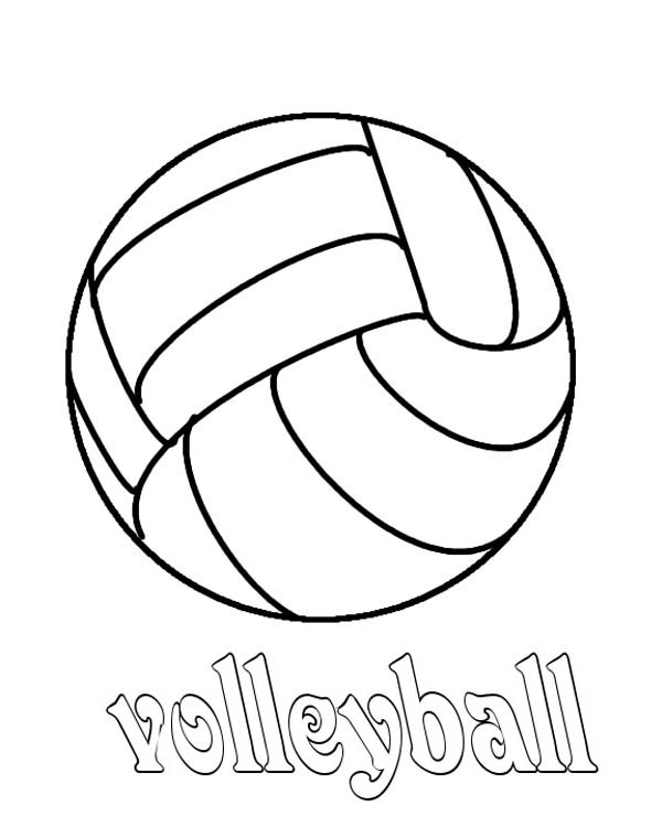 Image #17653 - Coloriage volleyball gratuit