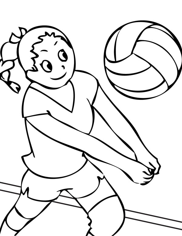 Image #17655 - Coloriage volleyball gratuit