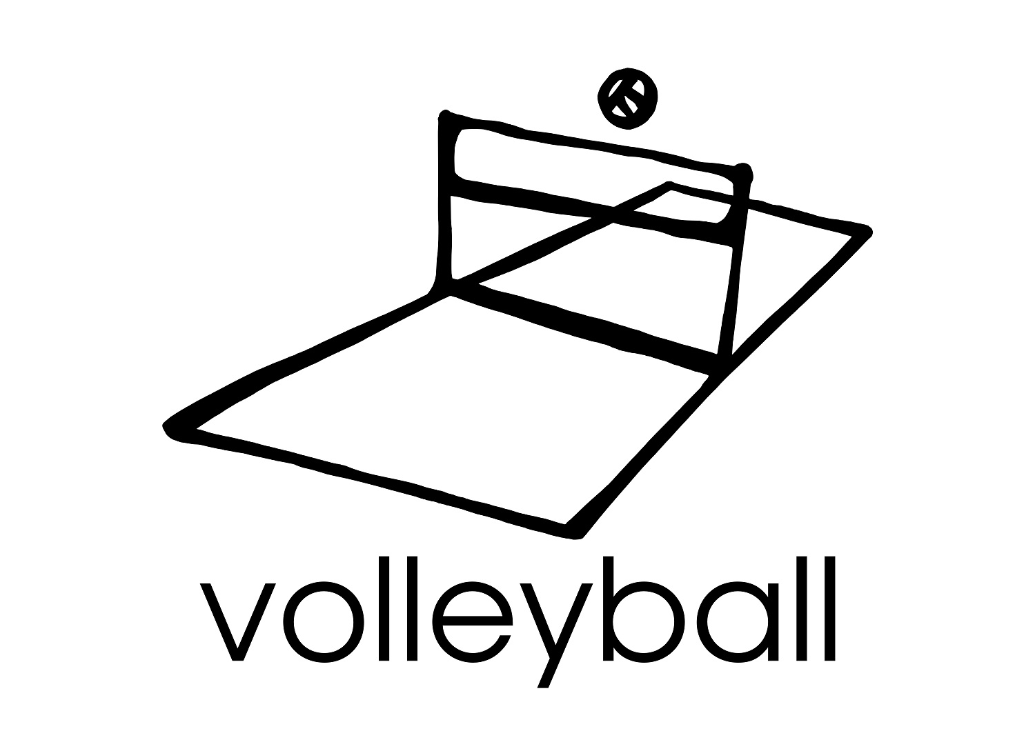 Image #17657 - Coloriage volleyball gratuit
