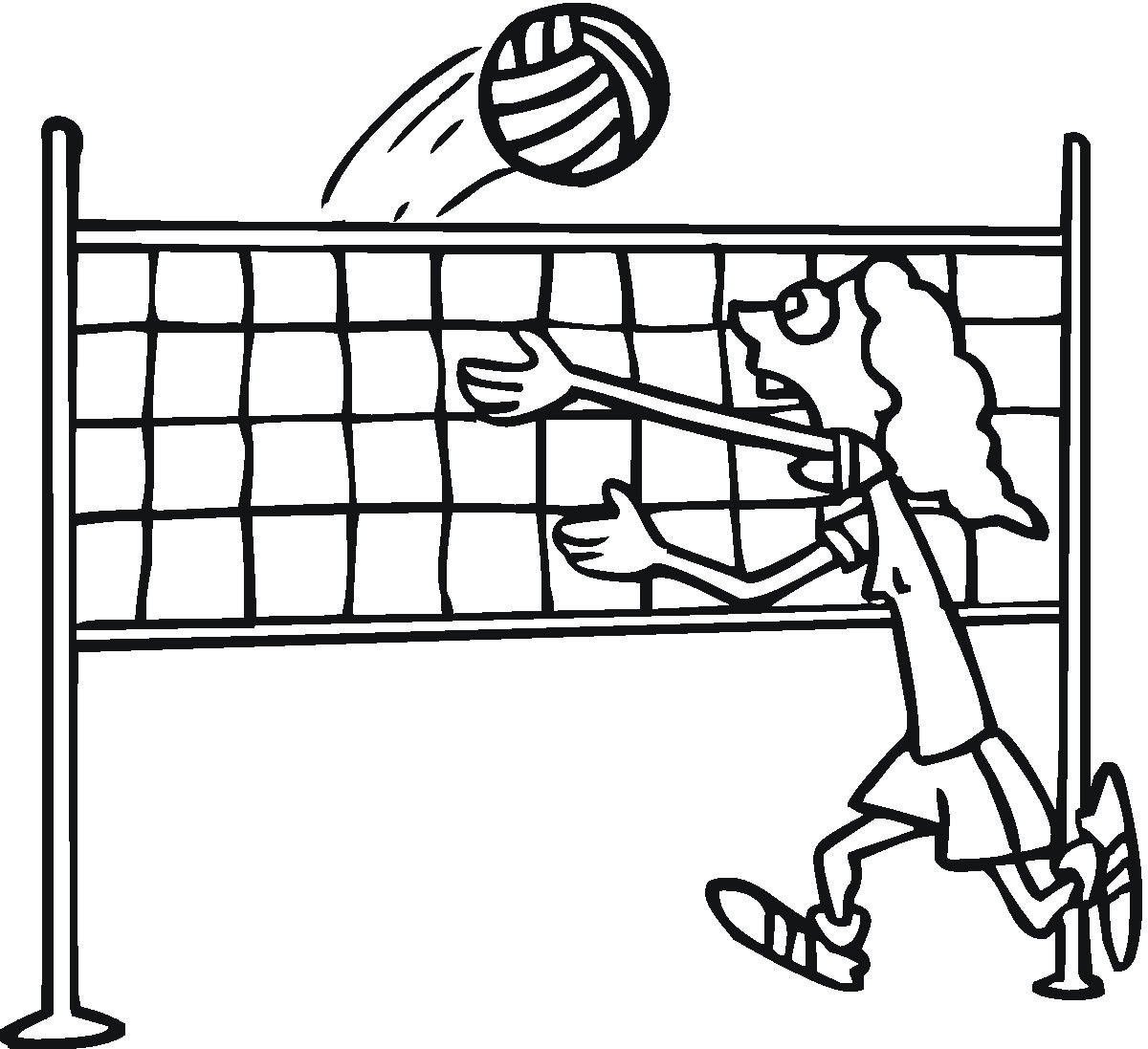 Image #17658 - Coloriage volleyball gratuit