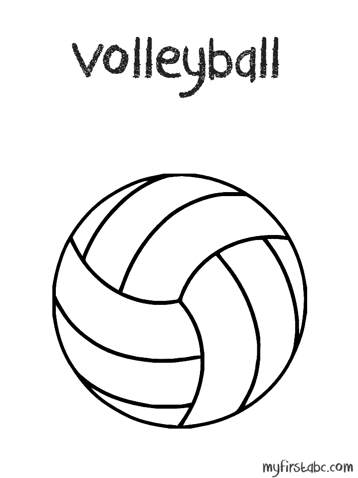 Image #17661 - Coloriage volleyball gratuit