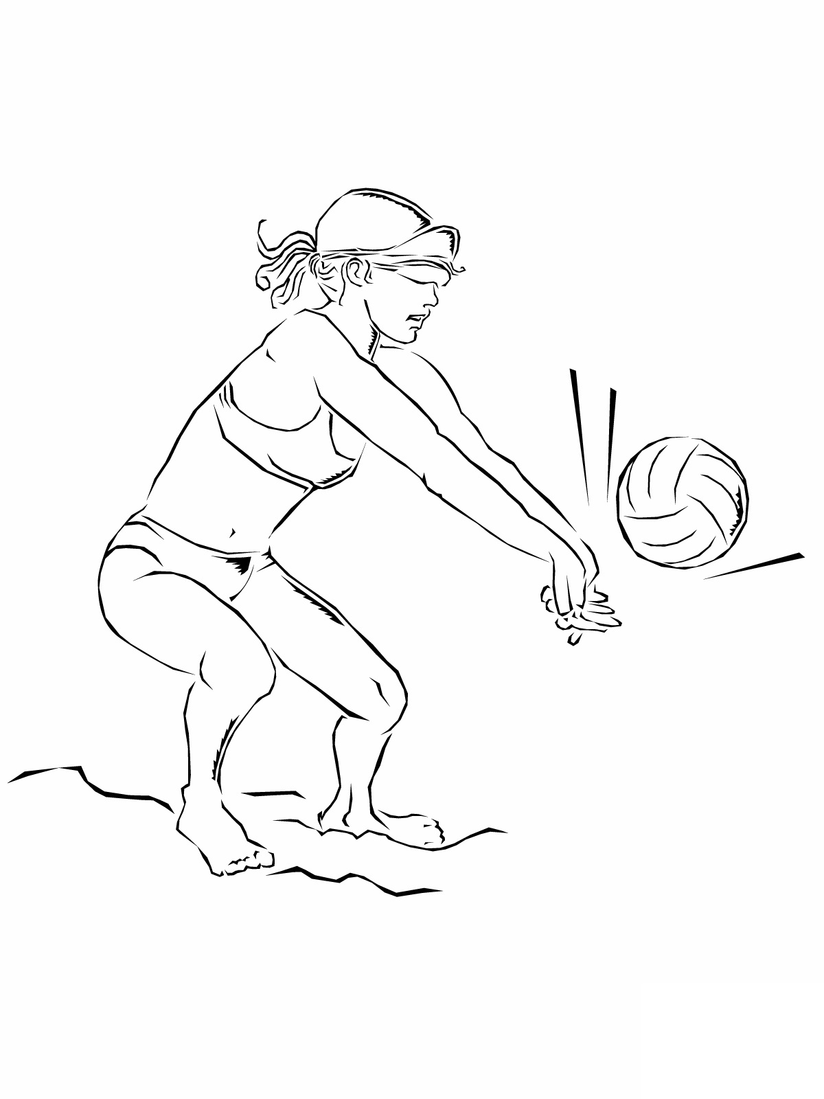 Image #17663 - Coloriage volleyball gratuit