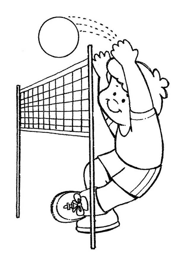 Image #17665 - Coloriage volleyball gratuit
