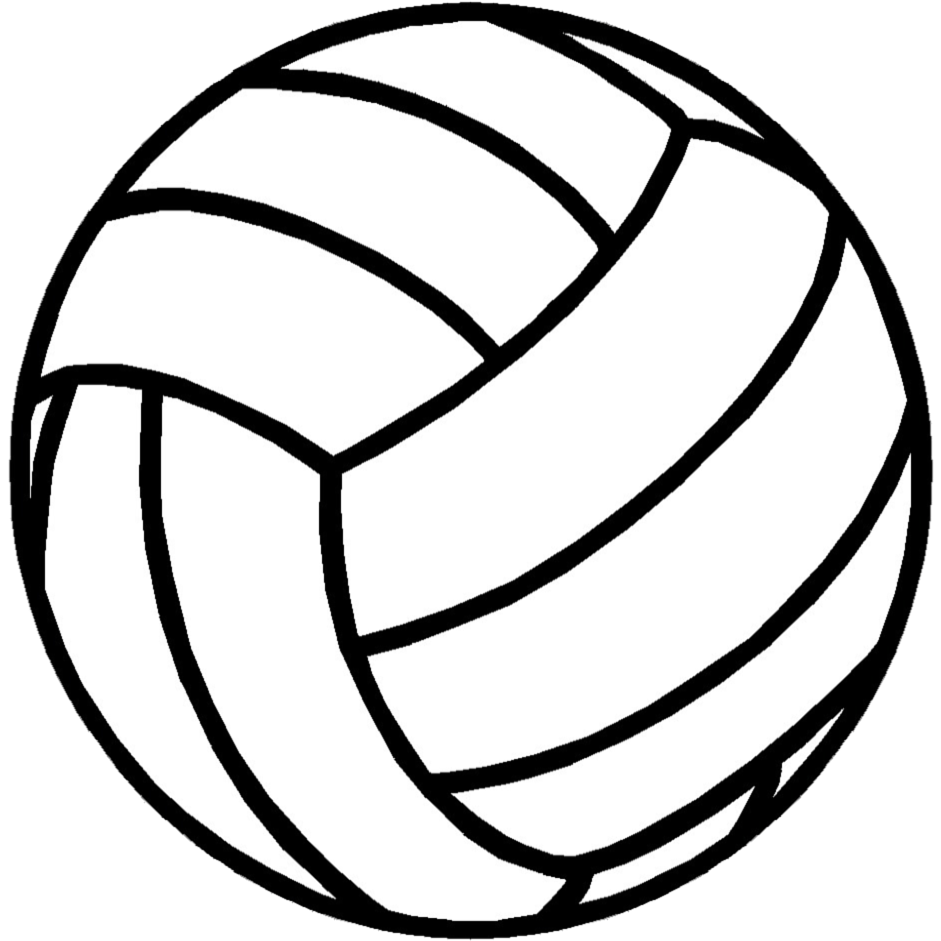 Image #17676 - Coloriage volleyball gratuit