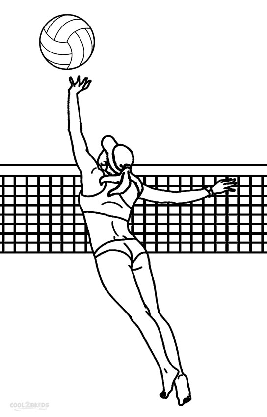 Image #17677 - Coloriage volleyball gratuit
