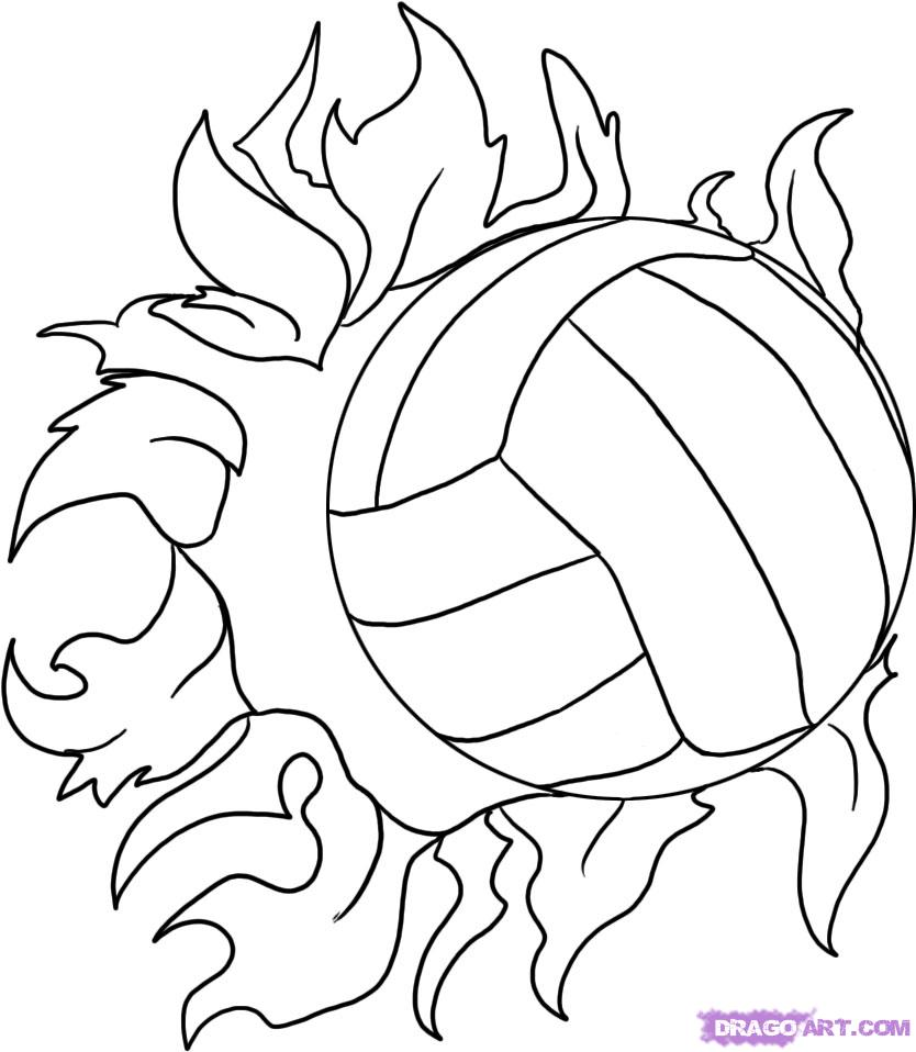 Image #17679 - Coloriage volleyball gratuit