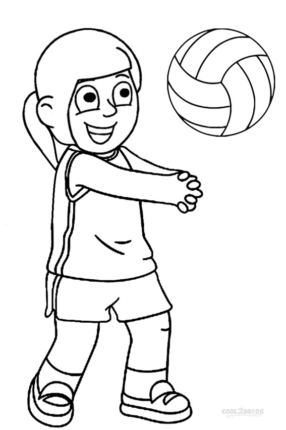 Image #17683 - Coloriage volleyball gratuit