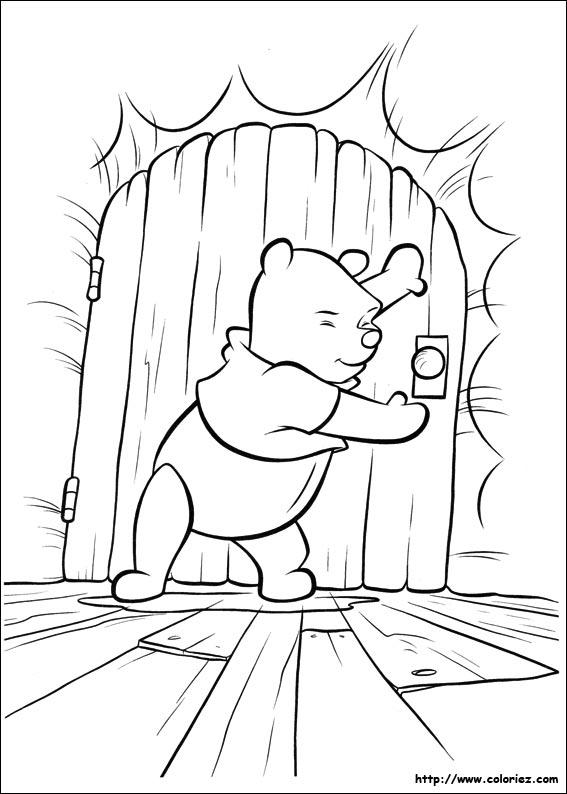 103 dessins de coloriage winnie imprimer sur laguerche for Porte qui s ouvre dessin