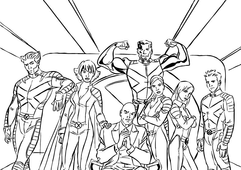 coloriage x men image