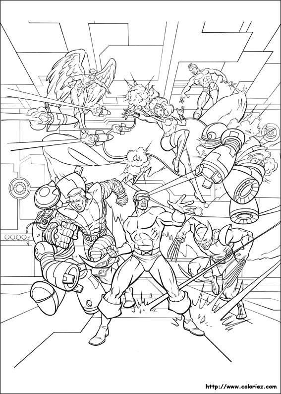 xmen coloring pages - 113 dessins de coloriage x men imprimer sur laguerche