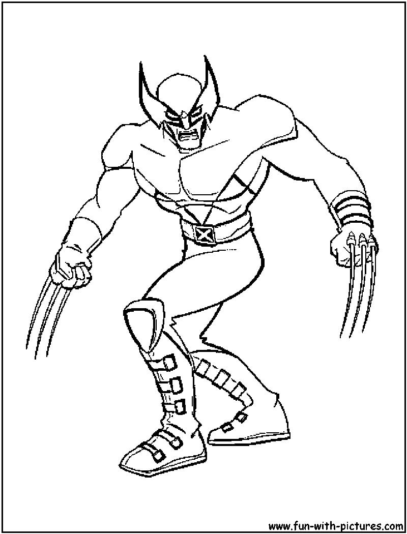 xmen wolverine dessin à colorier