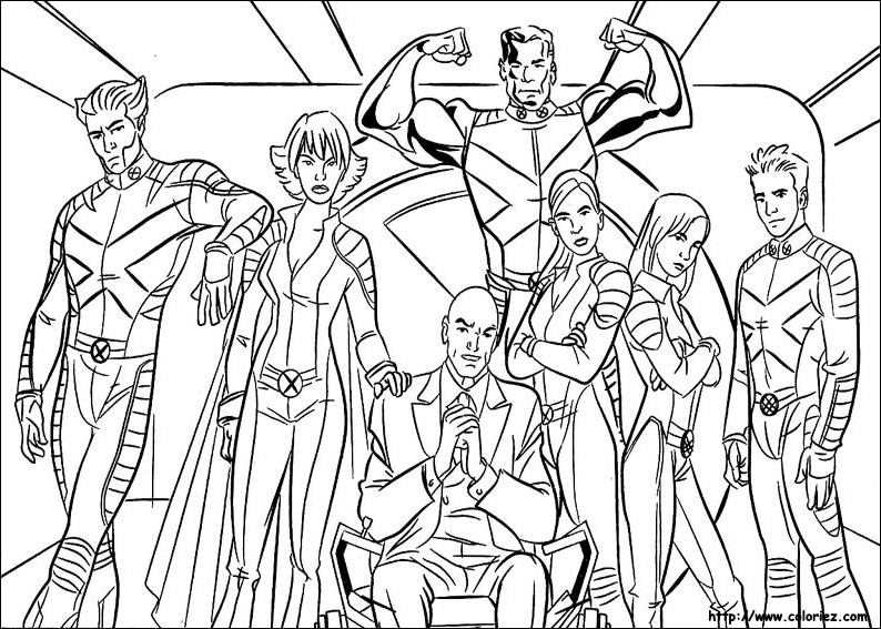 coloriage x men