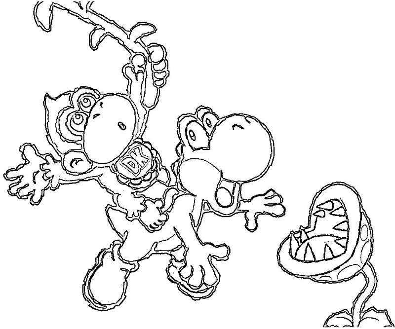 36 dessins de coloriage yoshi imprimer sur page 2 - Yoshi coloriage ...