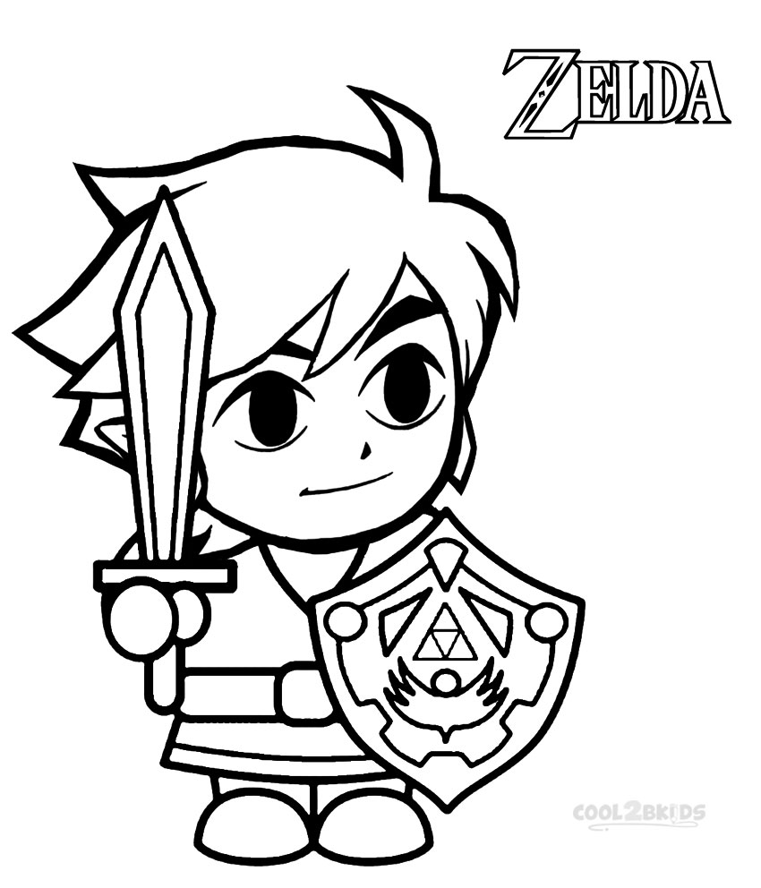 Zelda Breath Of The Wild Pages Coloring Pages