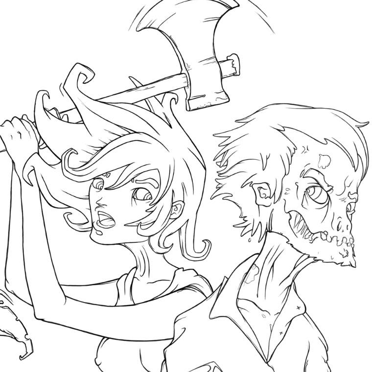 49 dessins de coloriage zombie à imprimer sur LaGuerche ...