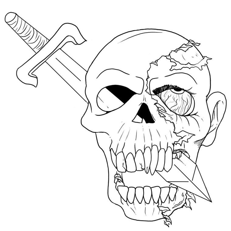 49 dessins de coloriage zombie imprimer sur laguerche - Dessin de aloine ...