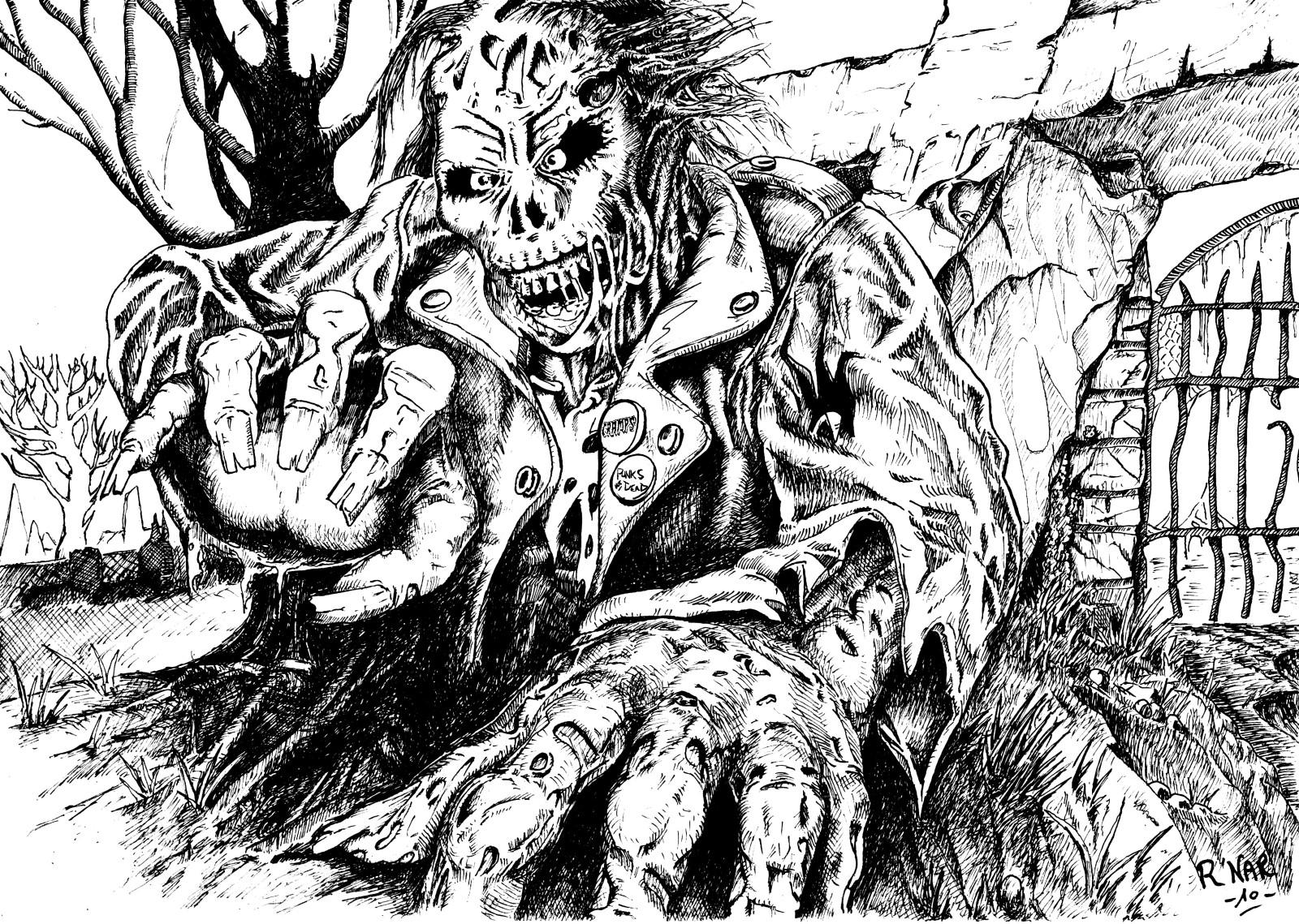 coloriage a imprimer zombie