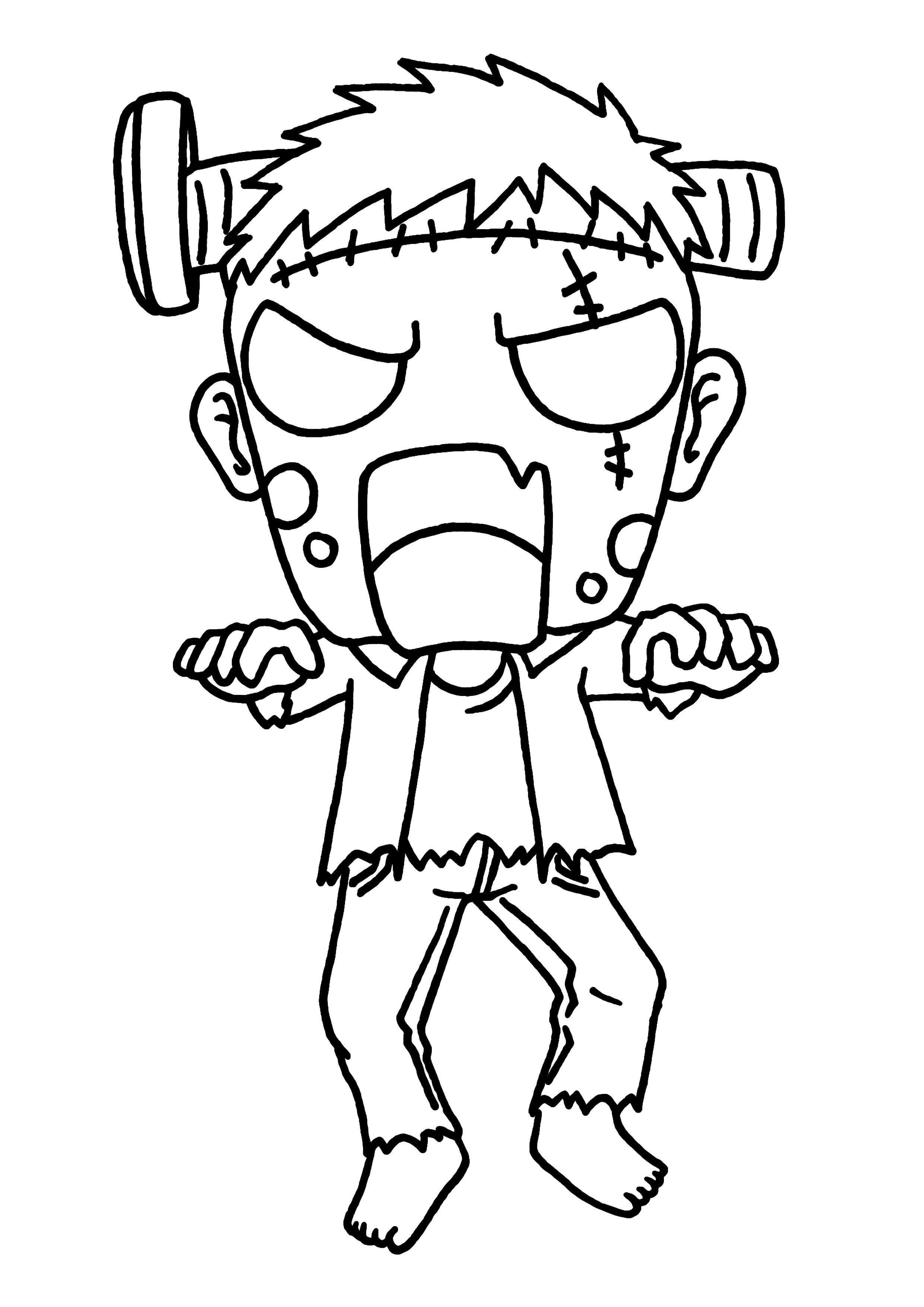 49 dessins de coloriage zombie imprimer sur page 2 - Coloriage zombie ...