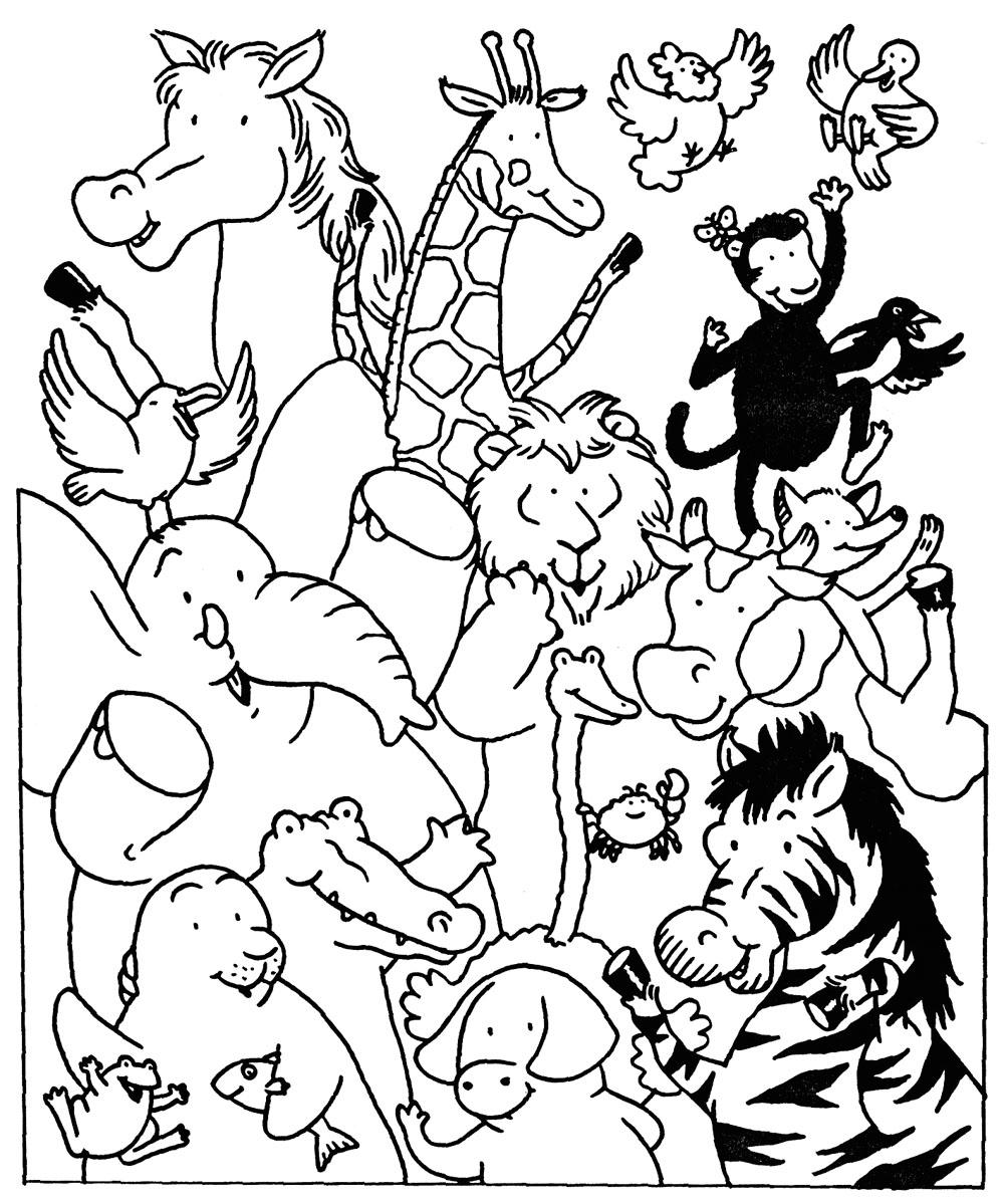 S lection de coloriage zoo imprimer sur - Coloriage de zoo ...