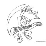 Johnny-Test-coloring-pages-playing-guitar