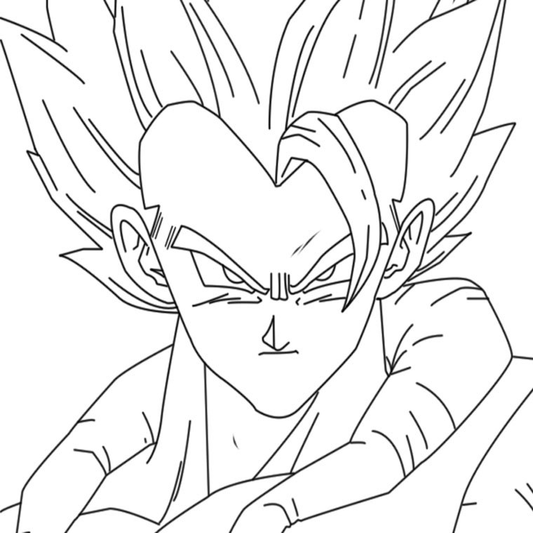 112 dessins de coloriage dragon ball z imprimer sur - Dessin de vegeta ...