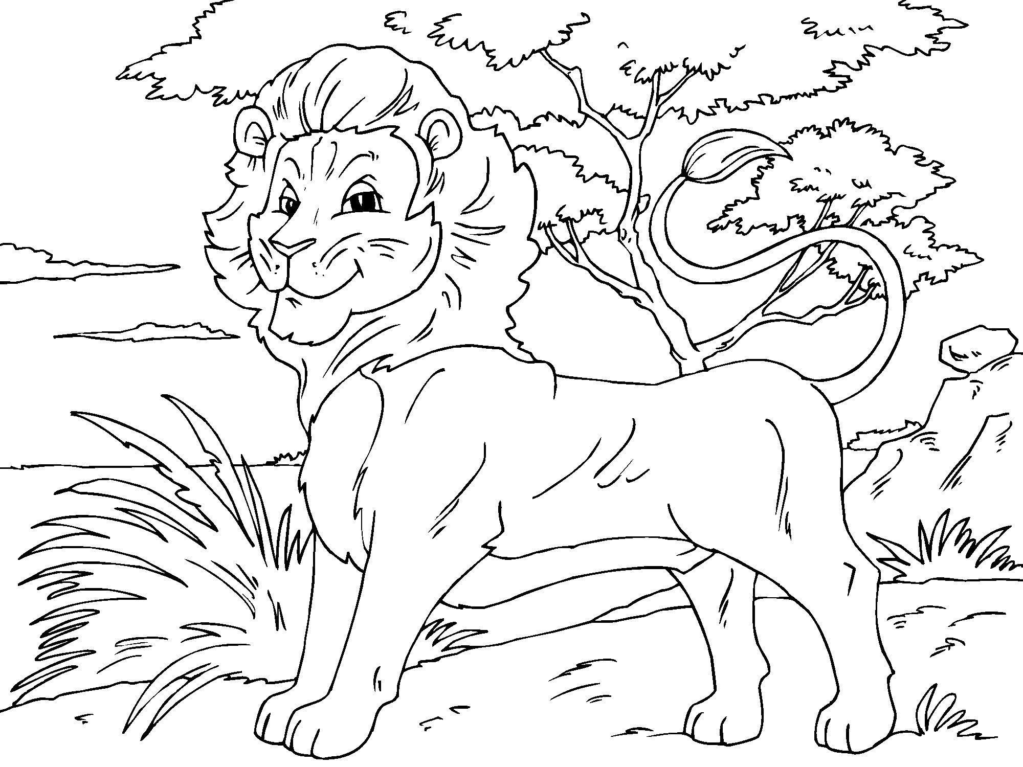 108 dessins de coloriage lion imprimer sur laguerchecom page 1