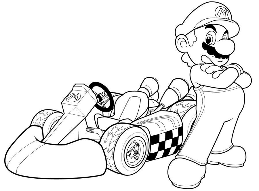 22 dessins de coloriage mario kart à imprimer sur LaGuerche.com - Page 1