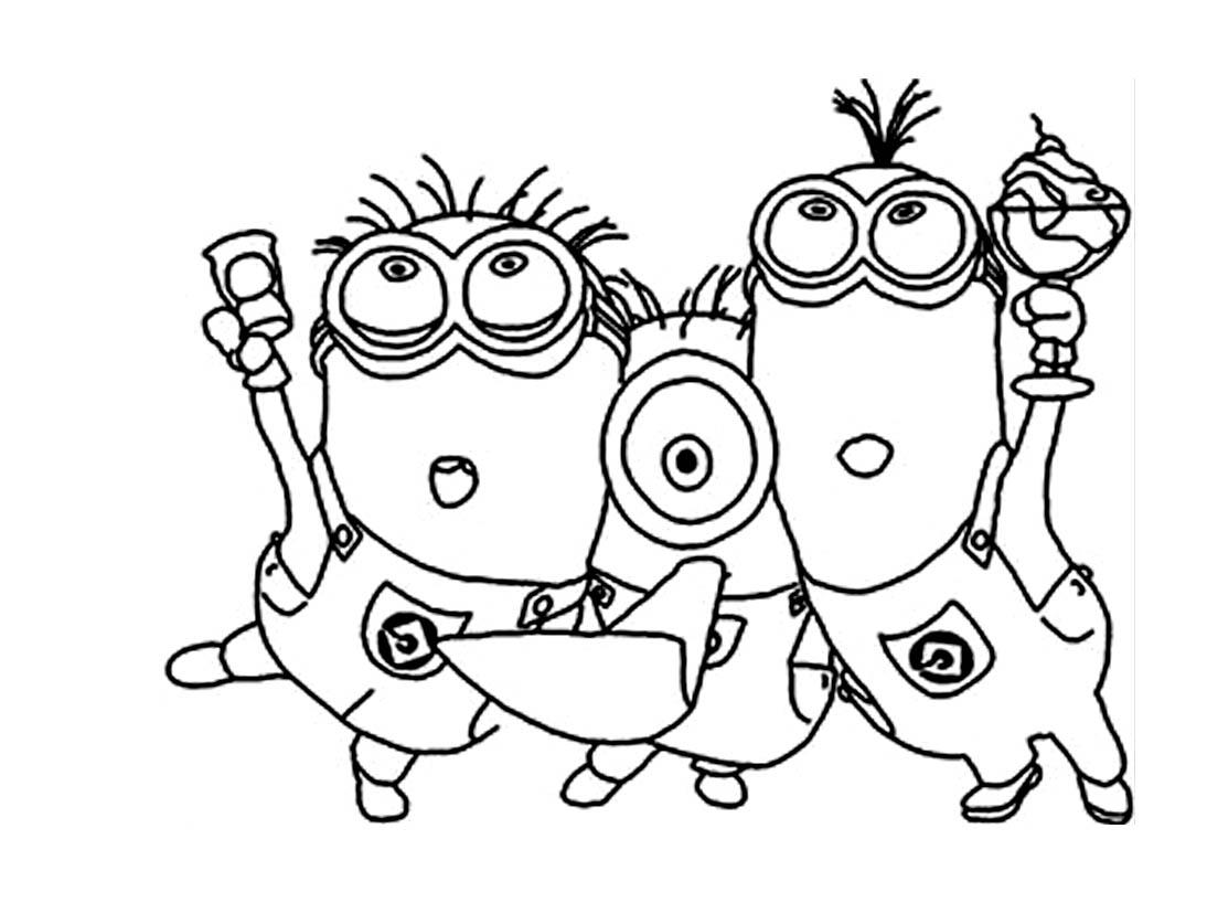 100 dessins de coloriage les minions imprimer sur page 1 - Minion amoureux ...