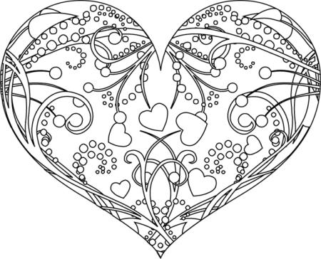 111 Dessins De Coloriage Coeur A Imprimer Sur Laguerche Com Page 1