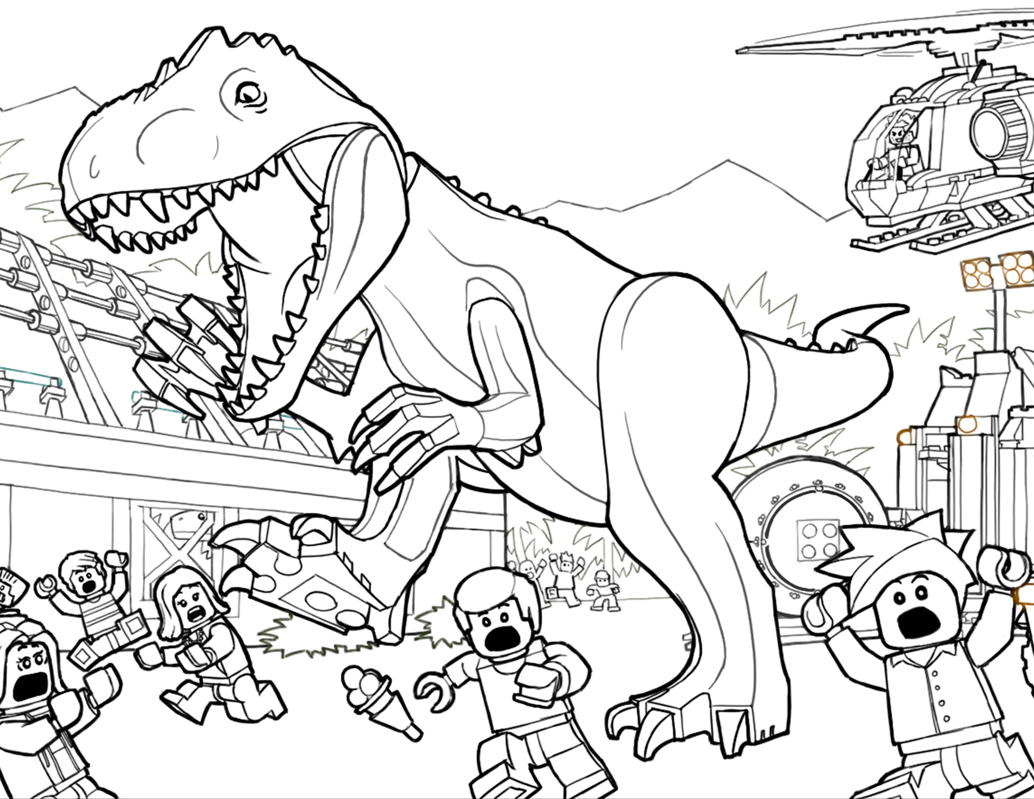 33 dessins de coloriage jurassic park imprimer sur page 1 - Top coloriage dinosaures ...