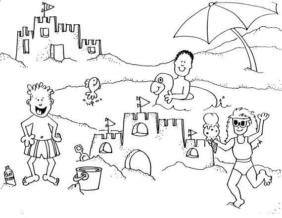 56 dessins de coloriage plage à imprimer sur LaGuerche.com ...