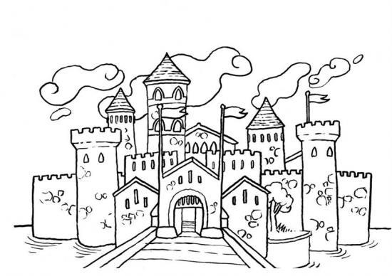 Coloriage De Chateau A Imprimer.96 Dessins De Coloriage Chateau A Imprimer Sur Laguerche Com Page 1