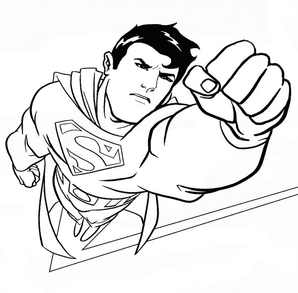 71 dessins de coloriage superman imprimer sur page 2 - Superman en voiture ...