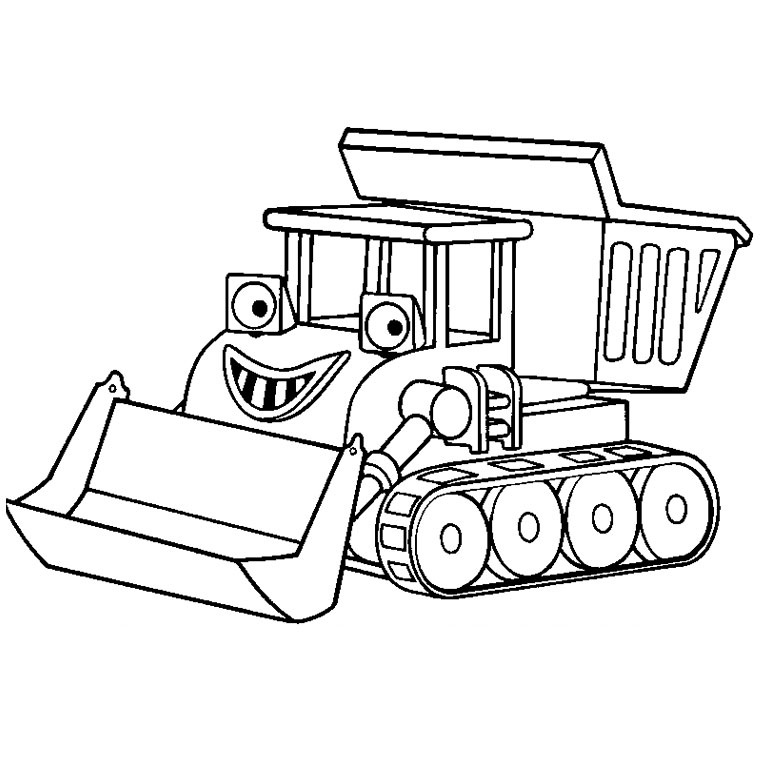 S lection de dessins de coloriage tracteur imprimer sur - Coloriage pelleteuse ...
