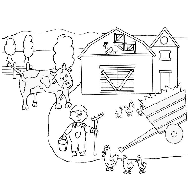 S lection de dessins de coloriage fermier imprimer sur - Coloriage ferme ...
