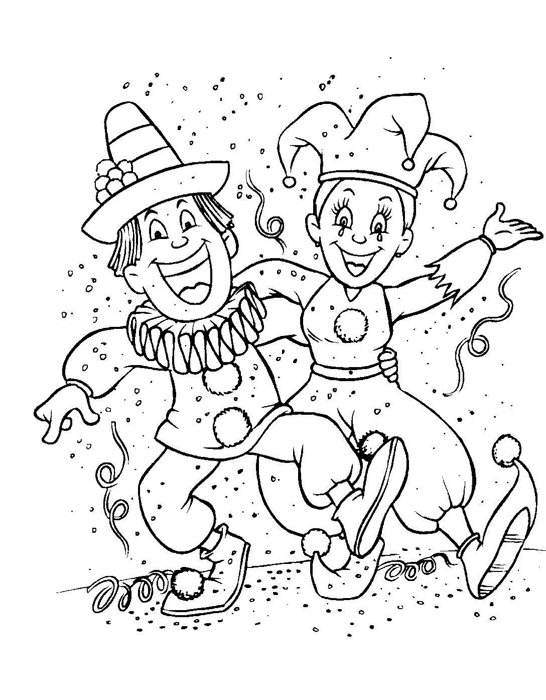 S lection de dessins de coloriage carnaval imprimer sur - Carnaval coloriage ...