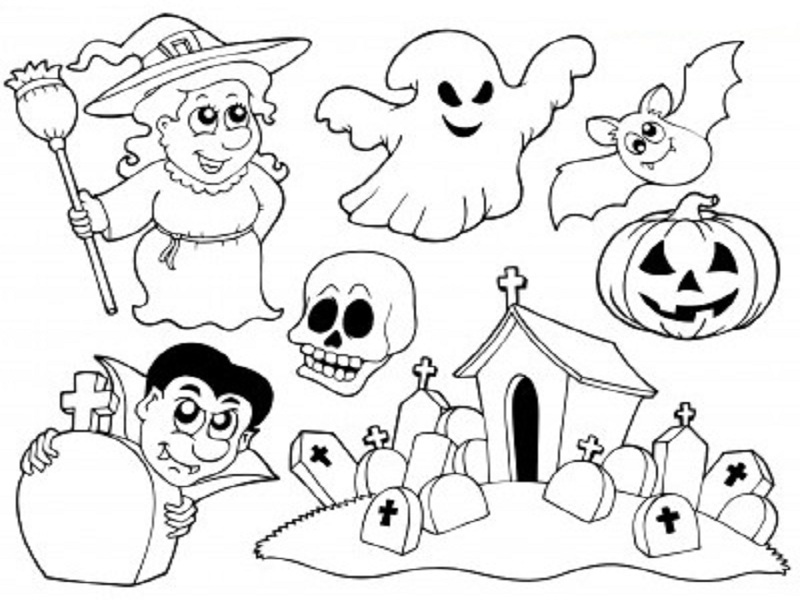 S lection de dessins de coloriage halloween imprimer sur page 1 - Dessins halloween a imprimer ...